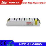 alimentazione elettrica di 24V 2.5A LED con le HTC-Serie della Banca dei Regolamenti Internazionali di RoHS del Ce