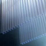 Kristallplastikdoppelwand-Polycarbonat-Höhlung-Blatt für Sunroom