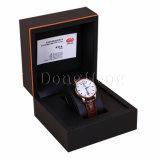 Nome luxuoso marcado caixa de relógio do plutônio com descanso de couro