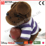 Do cão macio do animal enchido de Keychain do luxuoso do brinquedo de ASTM anéis chaves para miúdos/crianças