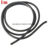 2x5mm noir de la bande caoutchouc élastique en latex naturel Tube Flexible de tubulure