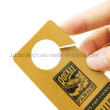 Standardgrößen-dünnere kundenspezifische unregelmäßige Form Belüftung-Plastikkarte