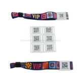 Custom logo NFC RFID Fabric Woven Wristband for Event