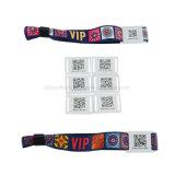 Wristband tejido tela de encargo de la insignia NFC RFID para el acontecimiento