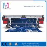 UV 잉크젯 프린터 Withgen5 Printhead Mt Softfilm3207 UV 판매를 위한 알루미늄 기치 인쇄 기계를 구르는 최신 판매 3.2m 롤