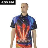 Chemise de polo de dards de professionnel de polyester de la qualité Sportswear100% d'Ozeason avec les poches avant