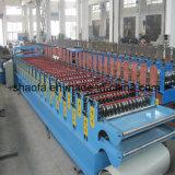 Цвет Стальной дом Застекленные крыши двойной слой роликогибочная машина в Китае
