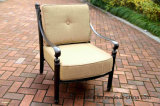 Muebles profundos de la fundición de aluminio de la silla del amortiguador del club del jardín