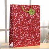 赤いギフトの紙袋、カスタム紙袋、ハンドル袋