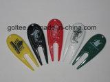 Цветные пластмассовые поле для гольфа вырезом приспособления