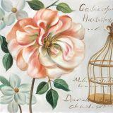 Pittura a olio moderna della mano di vita di nuovo arrivo ancora con il cuore del fiore di scintillio