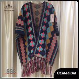 Wolljacke-Strickjacke-Troddel-Poncho der Dame-Fashion Ethnic Style New