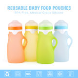 Fabricante China de silicona de grado alimentario alimentos para bebés 250ml bolsas Squeeze