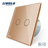 Interruptor alejado Vl-C702sr-11/12/13/15 del panel del vidrio cristalino de la manera de la cuadrilla 2 de Livolo 2