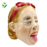 La fábrica de látex Deluxe máscara de Halloween llena los ojos doble/de la mujer