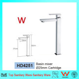 Articles sanitaires avec le filigrane et le mélangeur en laiton de bassin de l'eau de Wels de salle de bains carrée approuvée d'économie (HD4251)