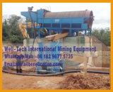 Equipo minero que se lava de la maquinaria de la criba del oro de la arena