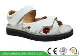 수를 놓은 꽃 패턴 여자 건강 샌들 안락 우연한 신발