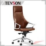 Doux et confortable chaise de bureau pivotant avec surface en cuir