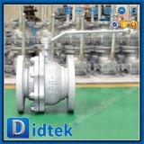 Valvola a sfera molle a due pezzi di gestione leva di sigillamento di Didtek