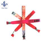 Wristbands promocionales baratos de encargo de la tela para el partido