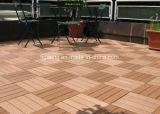 Tablón instalado fácil plástico de madera del Decking Floor/WPC del PE para el jardín/el parque