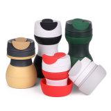 Taza de café plegable reutilizable respetuosa del medio ambiente del volumen grande de encargo con ejercicio