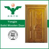 Porta interior em madeira maciça, porta de madeira em estilo moderno de madeira natural folheadas portas de madeira
