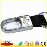 Brown PU Leather Chaveiro Key Ring com o logotipo personalizado