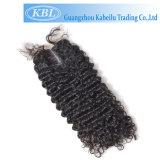 Encierro brasileño 4*4 del cordón de la mejor extensión del pelo