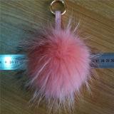 Ворот шерсти Keychain неподдельных лисохвостов шарика шерсти Raccoon реальный
