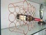 Estante del sostenedor de botella de vino del cromo de la visualización