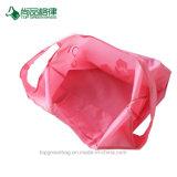 2017 aufbereitete Eco wasserdichte preiswerte faltende Polyester-NylonEinkaufstasche mit Beutel anpassen