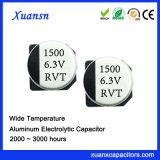 Condensador estándar grande de la capacidad 1500UF 6.3V SMD