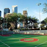 ケイ素PUの屋外のバスケットボールはゴム製フロアーリングを遊ばす