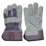 Plein gants résistants de gréeur de travail coupés de paume par cuir