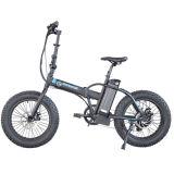クロス・カントリーのタイヤ500W後部モーター30kmを搭載する折られた電気自転車