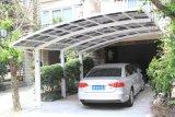 Einzelner Polycarbonat-Autoparkplatz mit Alunimium Halter