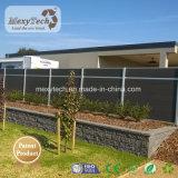 Nuevo diseño de jardín posterior de aluminio Pravicy WPC valla con sistema de esgrima