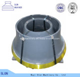 Il frantoio del cono di Sandvik S4800 dell'acciaio di manganese parte il manto e concavo