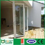 Portello di piegatura di alluminio di profilo del materiale da costruzione con il disegno di vetro
