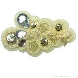 La mode Coiffure perle en mousseline de l'artisanat Rhinestone Fleur decorative