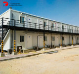 PrefabdieHuizen van het Huis van de Container van het Pak van het Comité van de sandwich 20FT de Vlakke in China worden gemaakt