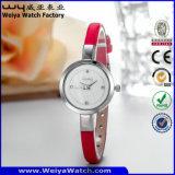 L'ODM Quartz sangle en cuir Mesdames fashion montre-bracelet personnalisé (Wy-074D)