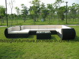 PE 테이블 고정되는 옥외 가구를 가진 편평한 등나무 소파