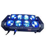 8*10W RGBW 4 dans la lumière principale mobile de faisceau d'araignée de DEL