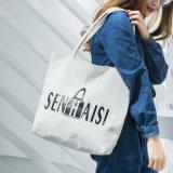 Tela de alta qualidade personalizada de fábrica mulheres Sacola grande de bolsas