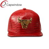 Высокая частота 5 панели из натуральной кожи Red Hat Snapback хип-хоп Red Hat