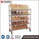 Наклоненное изготовление Shelving стеллажа для выставки товаров хлеба металла крома 5 ярусов