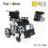 Cadeira de rodas elétrica da potência médica da dobra do equipamento dos cuidados médicos para enfermos